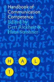 Handbook of Communication Competence image