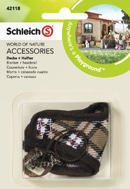 Schleich: Blanket + Headstall (Brown)