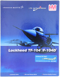 Lockheed TF-104G Starfighter 104-22 Spanish Air Force late 1960s 1:72 Diecast Model