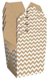 Noodle Gift Box - Kraft & White Chevron
