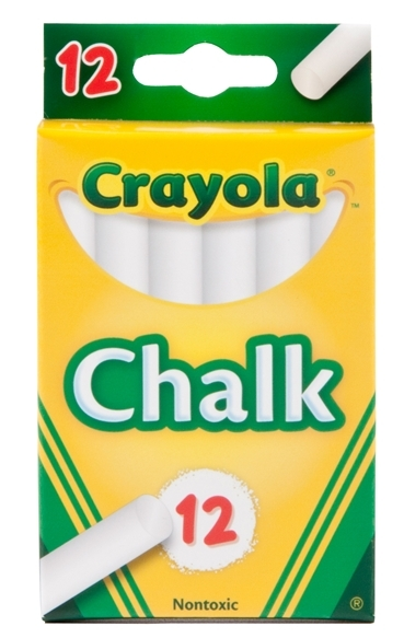 Crayola: 12 White Chalk Sticks