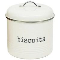 Biscuit Tin - White