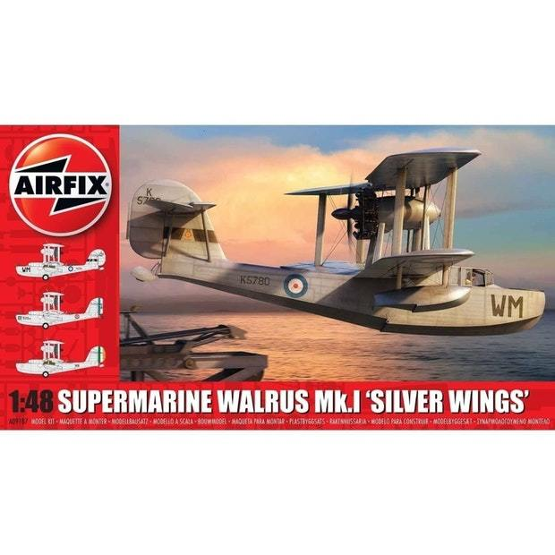 Airfix 1:48 Supermarine Walrus Mk.1 'Silver Wings' Scale Model Kit