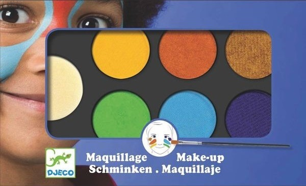 Djeco: 6 Colour Makeup Pallete (Nature)