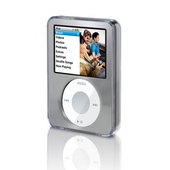 Belkin Clear Acrylic & Silver Brushed Metal Face for iPod nano 3G image