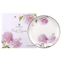 Pink Peonies Fine Bone China Cocktail Plate
