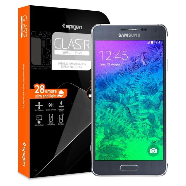 Spigen Glas.tR Slim Screen Protector for Galaxy Alpha