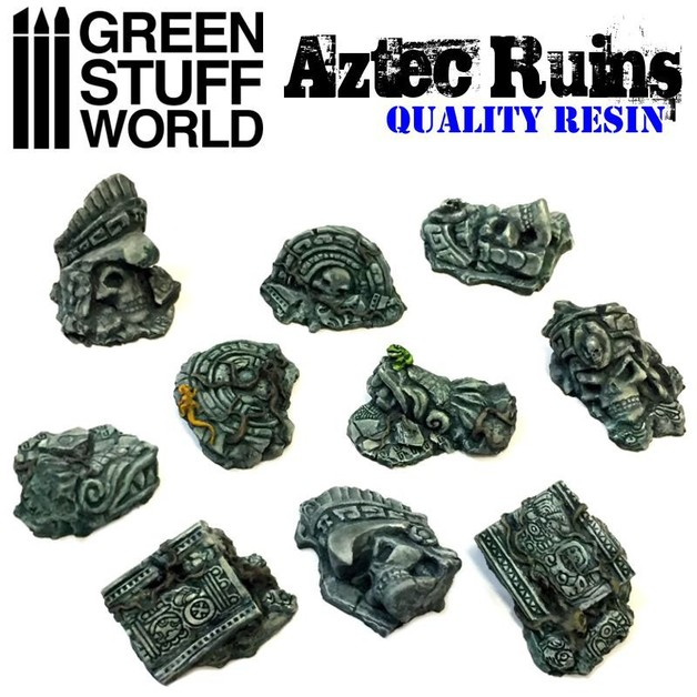 Green Stuff World: Aztec Ruins Set