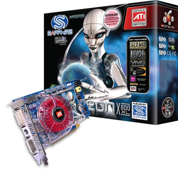 Sapphire Radeon Video Card X800XL 512MB DDR3 VIVO PCI EXPRESS image