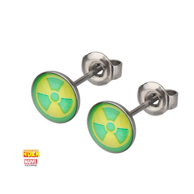 Marvel: Hulk Radioactive Symbol Stud Earrings