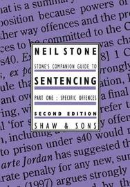 Stone's Companion Guide to Sentencing: Pt. 1 by Neil Stone image