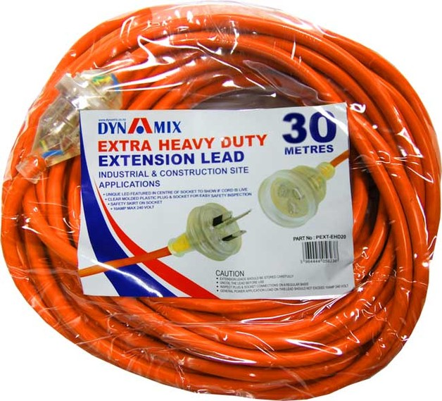 30m Dynamix Extra Heavy Duty Power Extension Lead