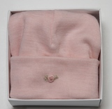 Dimples: Gift Boxed - Merino Pastel Marl Beanie - Pink (6-12 Months)