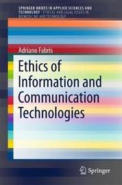Ethics of Information and Communication Technologies by Adriano Fabris