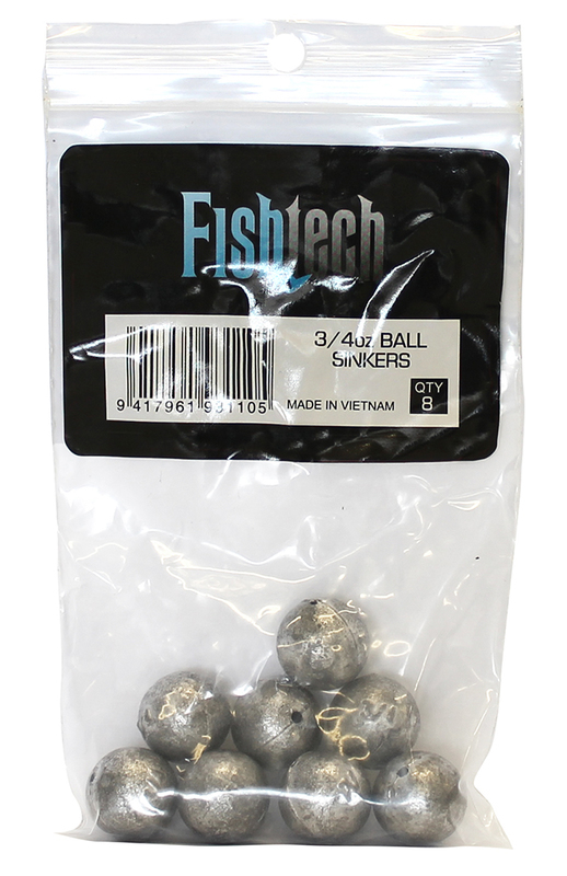 Fishtech Ball Sinkers 3/4oz (8 per pack)