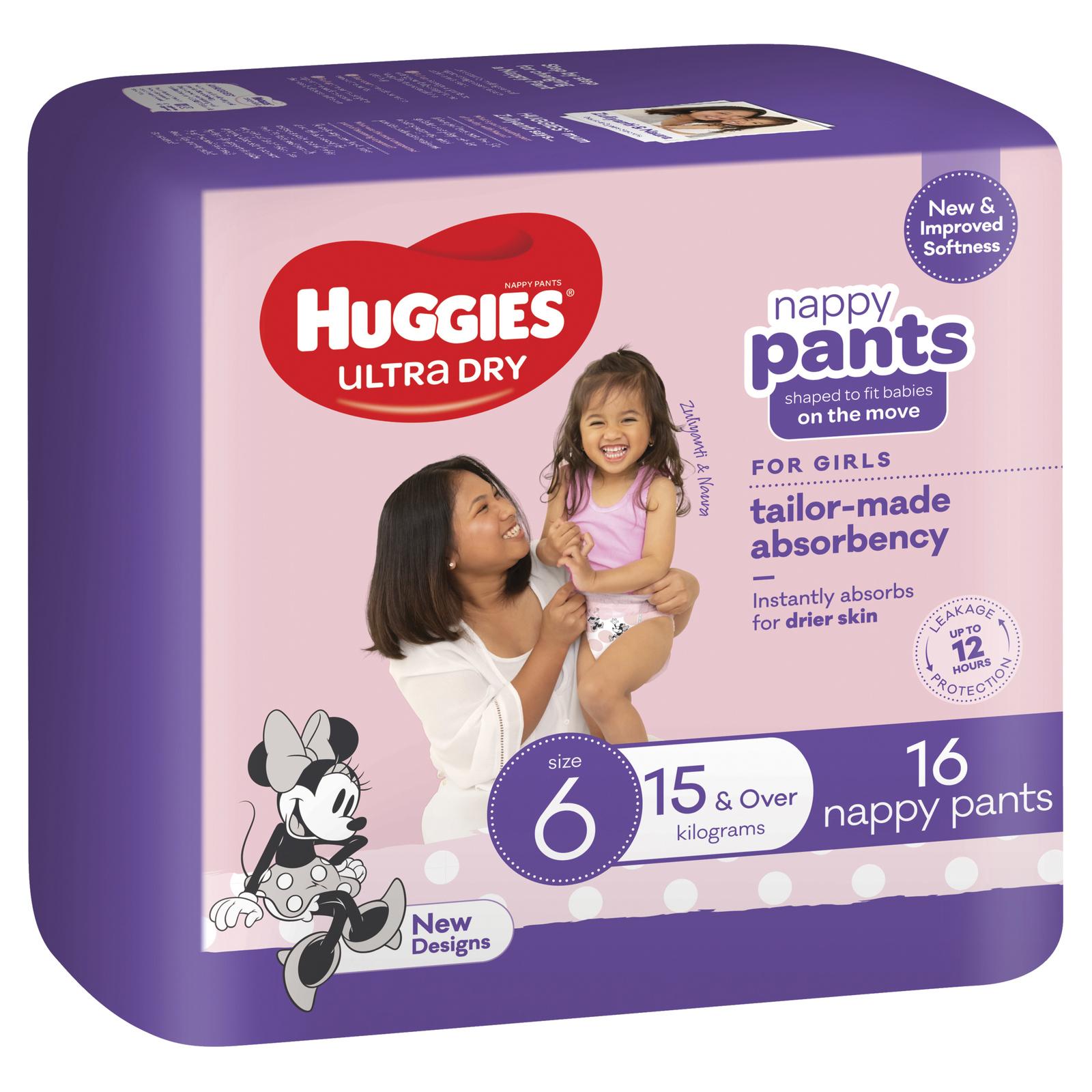 Huggies: Ultra Dry Nappy Girl Pants - Size 6 image