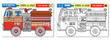 Melissa & Doug: Fire Engine Colour-a-Mat