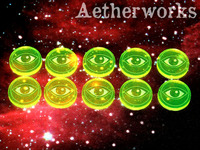 Aetherworks Focus Tokens - Fluorescent Green (10 Pack)