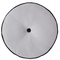 Bambury Spot Round Filled Cushion (Silver)