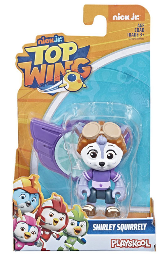 """Top Wing: Shirley Squirrely - 3"""" Action Figure & Badge image"""