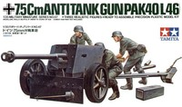 Tamiya German 75mm Anti-Tank Gun 1:35 Model Kit image