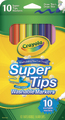 10 Washable Super Tips Markers - Crayola