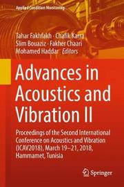 Advances in Acoustics and Vibration II image