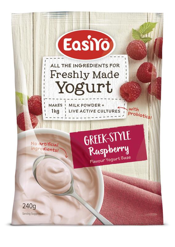 EasiYo: Greek-Style Raspberries & Cream (240g) - 8-Pack