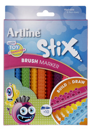 Artline Stix Brush Marker (Pack of 10)