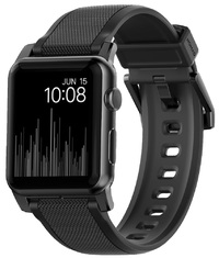 Nomad Vulcanized LSR Silicone Strap for Apple Watch (Black Hardware)