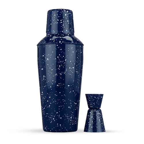 Foster & Rye: Enamel Cocktail Shaker & Jigger Set - Blue