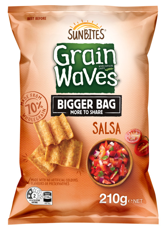 Sunbites Grain Waves Salsa Party Bag (210g)
