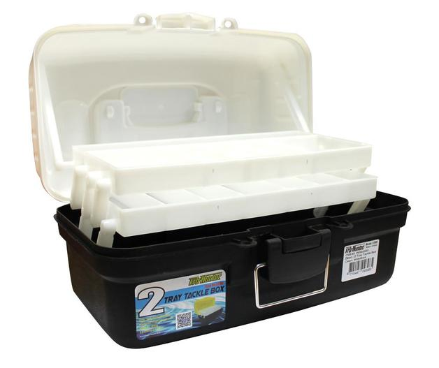 Pro Hunter Two Tray Tackle Box - White