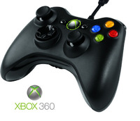 Official Xbox 360 Wired Controller Black (PC Compatible) for Xbox 360