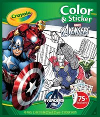 Colour & Sticker Book Avengers - Crayola