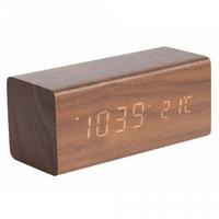 Karlsson Alarm Clock - Block (Wood)
