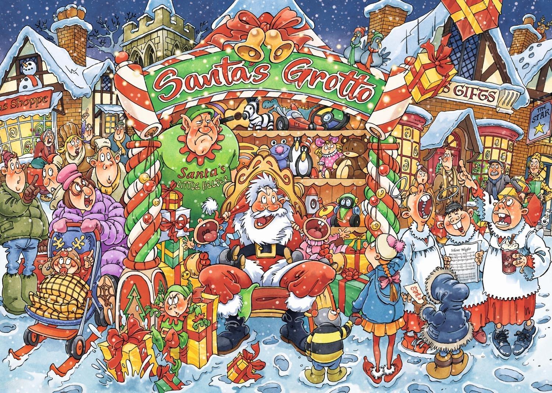 Wasgij: 1000 Piece Puzzle - Xmas #14 (Santa's Little Helper) image