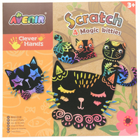 Avenir Scratch Art Kit - Magic Kitties