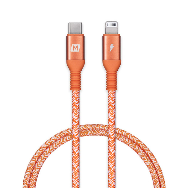 Momax: Elite-link 1.2m USB-C to Lightning Cable - Coral Red