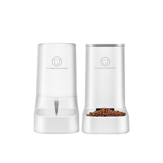 Automatic Water Dispenser & Food Container Set - White