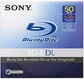 Sony Blu-Ray Recordable BNR50A Blu-ray Disc  (Write Once; 50GB) is the next-generation optical  disc format for recording