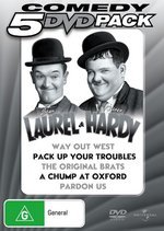 Laurel And Hardy - Way Out West / Pack Up Your Troubles / Original Brats / Chump At Oxford / Pardon Us (5 Disc Set) on DVD
