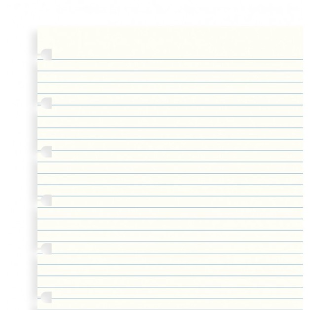 Filofax - A5 Ruled Notebook Refill - White (32 Sheet)