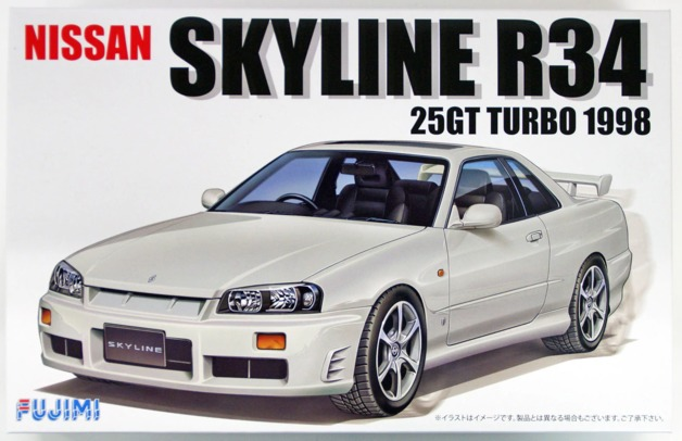 Fujimi: 1/24 R34 Skyline (25GT Turbo 1998) - Model Kit