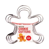 IS GIFT: Festive Cookie Cutters - Gingerbread Men (Set Of 3)