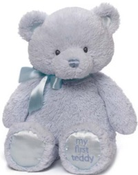 Gund: My First Teddy 38cm - Blue image