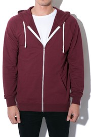 AS Colour Traction Zip Hoodie - Burgundy (X-Small)