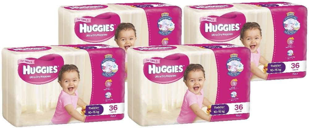 Huggies Ultra Dry Nappies Bulk Shipper - Toddler Girl 10-15kg (144) image