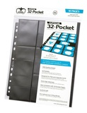 Ultimate Guard: 32-Pocket Standard/Mini-Amercian Pages (Black)