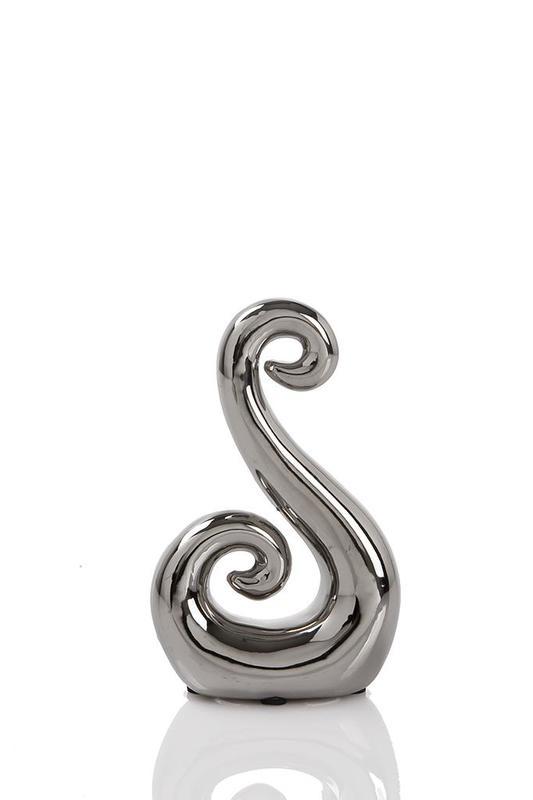 Ceramic Figure 8 Koru - Silver